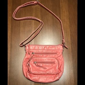 Maurices coral salmon pink shoulder bag purse